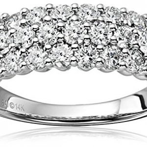 14k White Gold Diamond Anniversary Wedding Bands (2cttw, H-I Color, I1-I2 Clarity), Size 7