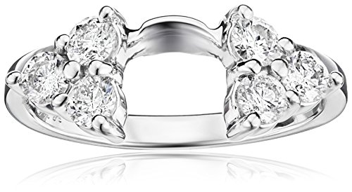 14k White Gold Diamond Solitaire Engagement Ring Enhancer (3/4 cttw, H-I Color, I1-I2 Clarity)