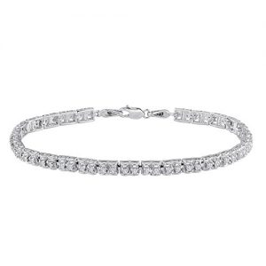Sterling Silver Round-cut Diamond Tennis Bracelet (1.00 cttw, I-J Color, I3 Clarity)