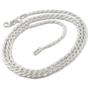 2mm Sterling Silver Diamond-Cut Rope Chain Necklace(Lengths 14″,16″,18″,20″,22″,24″,26″,28″,30″,32″,34″,36″)