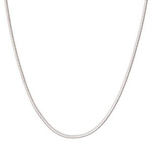 925 Sterling Silver Italian 1mm Snake Chain Crafted Necklace Thin Lightweight Strong – Lobster Claw Clasp