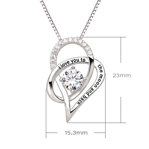 Alov jewelry sterling silver i love you to the moon and back alov jewelry mozeypictures Images