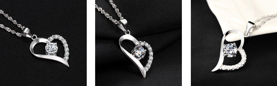 Heart-Silver-Pendant-Necklace