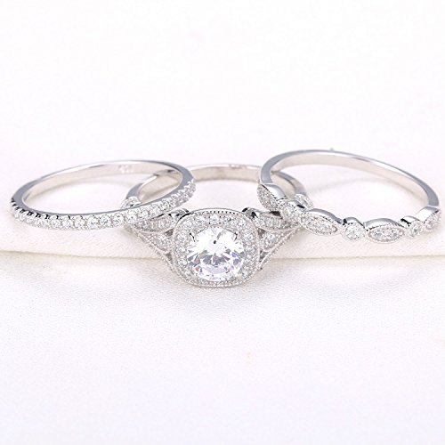 newshe bridal set - Cz Wedding Ring Sets