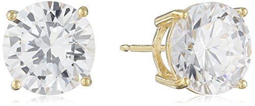 Sterling Silver Round Cut Cubic Zirconia Stud Earrings Jewelry Fashions