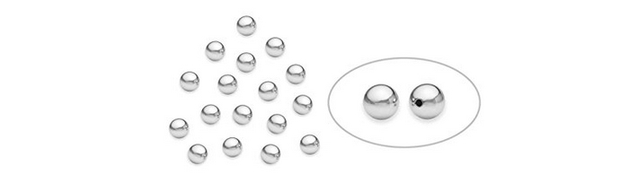 Sterling silver 4mm beads