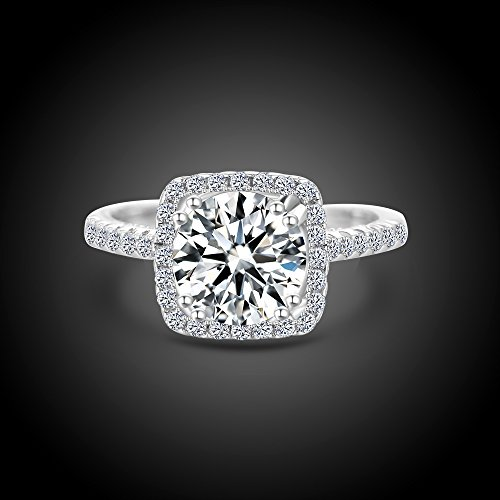 What S The Difference Between Engagement Ring And Wedding Ring: Women Wedding Ring 2 Carat Round Brilliant Cubic Zirconia
