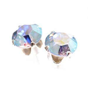 925 Silver earrings expertly made with Aurore Boreale Light Blue crystal from SWAROVSKI