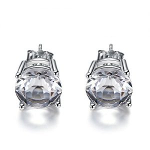 925 Sterling Silver Stud, Seven Colors Stud Earring Can Make You Enjoy The Selection