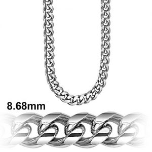 Cuban Link Chain – Platinum Plated 8.6 MM Solid .925 Sterling Silver Miami Cuban Made in Italy by Sterling Manufacturers