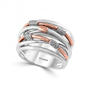 Effy Balissima Collection .09 ct. tw. Diamond Ring In Sterling Silver/Rose Gold