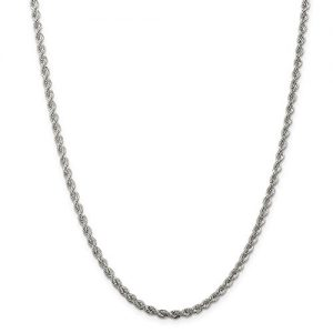 ICE CARATS 925 Sterling Silver Twisted 3mm Chain Necklace Anklet