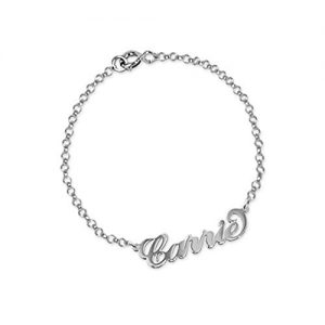 MissNity Personalized 925 Sterling Silver Name Anklet Bracelet-Custom Made with Any Names