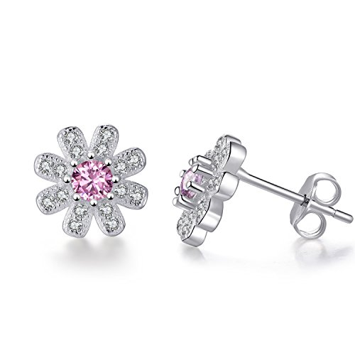 women for collection sonja products jewelry wedding stud real elegant dropship by sterling silver ya morgan spring luxury gift v flower earrings pink