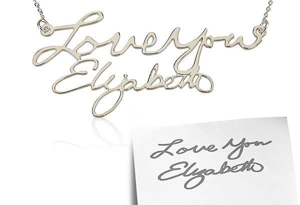 Silver love-you-elizabeth nameplate