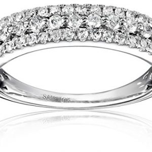 10k White Gold Diamond (1/2cttw) Anniversary Ring, Size 7