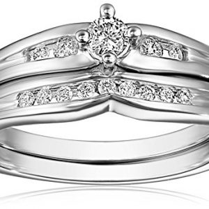 10k White Gold Diamond Bridal Set (1/4 cttw, H-I Color, I2-I3 Clarity)