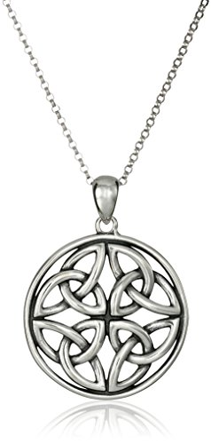 Celtic Knot Pendant Necklace, 18″