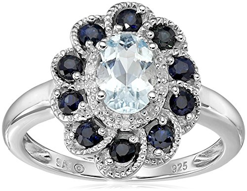 Sterling silver aquamarine blue sapphire and diamond for Sapphire studios jewelry reviews