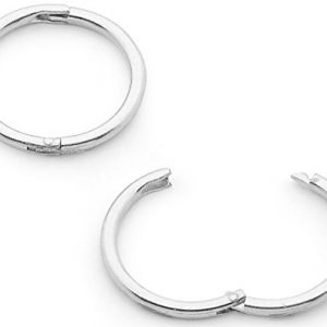 1 Pair Solid Sterling Silver 5/16″ (8mm) 18G Hinged Hoop Sleepers Earrings Made in Australia