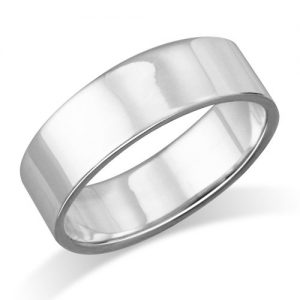 6MM Sterling Silver Plain Flat Wedding Band Ring Size 5, 6, 7, 8, 9, 10, 11
