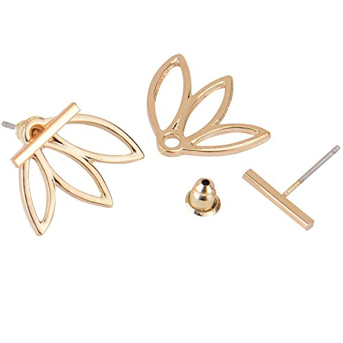 Diomate Tm 2 Pairs Lotus Flower Earrings