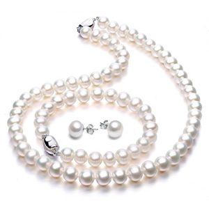 Freshwater Cultured Pearl Necklace Set Includes Stunning Bracelet and Stud Earrings Jewelry for Women – VIKI LYNN
