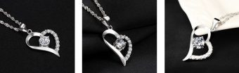 Sterling Silver Heart Necklace Just for Her