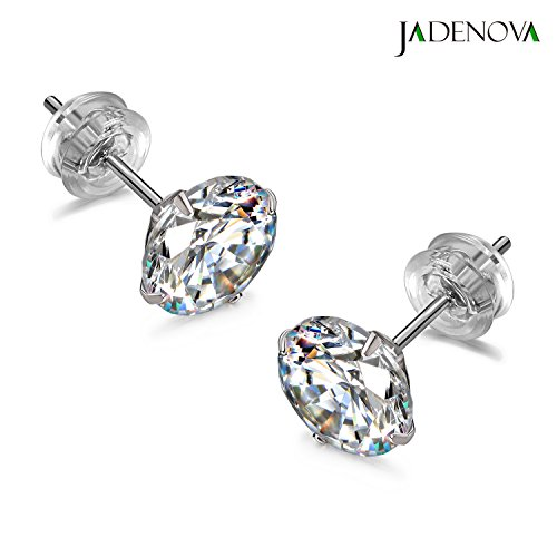 S925 Sterling Silver Crystal Stud Earrings Hypoallergenic Ball Earrings,Change-colored Round Earring,Romantic Gift,Piercing Exquisite Earrings Jewelry for Women,Girls,Mothers day 6MM