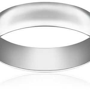 Light Comfort Fit Platinum Gold Wedding Band, 6mm