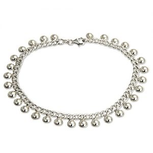 NOVICA .925 Sterling Silver Handmade Chain Charm Anklet 'Palace Charms', 10.5″