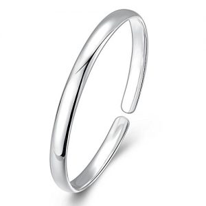 """To Minimalist""925 Sterling Silver Minimalism Bangle Bracelet for Men for Women"