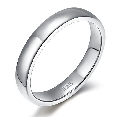 925 Sterling Silver 6mm Wedding Band Ring