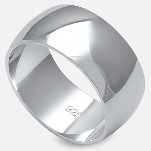 Solid Sterling Silver Women S Mens Unisex Wedding Band