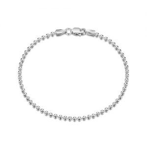 Amberta 925 Sterling Silver 2 mm Ball Chain Bracelet Size 7″ 7.5″ in