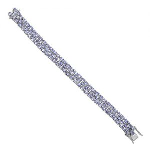 Shine Jewel Amazing Looking 20.40 Crt Genuine Tanzanite 92.5 Sterling Silver Bracelet