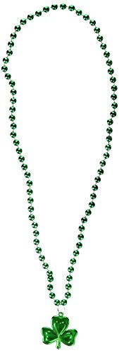 24 St. Patrick's Day Beads – Shamrock Necklace