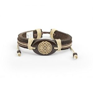 Adjustable Leatherette Bracelet – Celtic Symbols