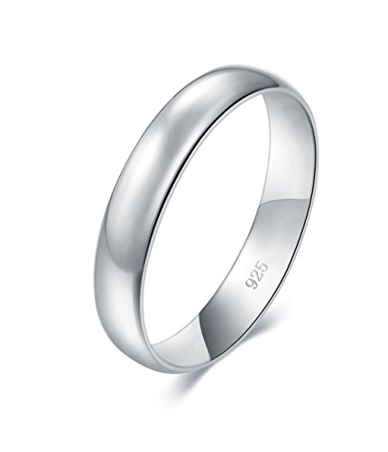 Solid 925 Sterling Silver 2mm Comfort Fit Wedding Band