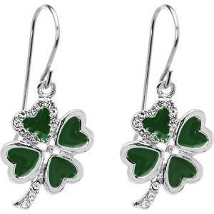 Body Candy Bright Heart Shamrock Earrings