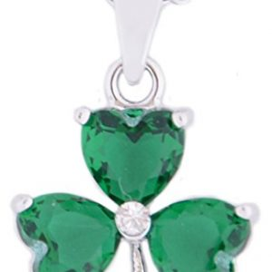 Carrolls Irish Gifts Irish Designed Croí Shamrock Necklace With Swarovski Crystal Stones