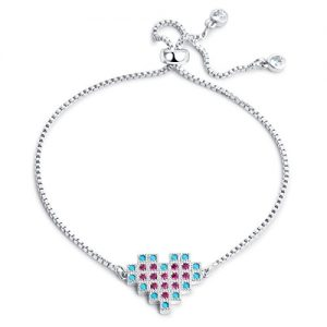 Karseer Womens Adjustable Tassel Chain Bracelet Set with Opal Hamsa | Snake | Red Heart Charm