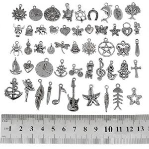 RUBYCA Wholesale Bulk Mixed Charms and Pendants for Jewelry Making
