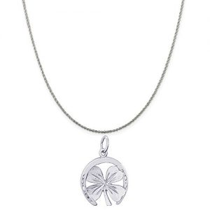 Rembrandt Charms Sterling Silver Good Luck Charm on a 16, 18 or 20 inch Rope, Box or Curb Chain Necklace