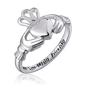 S925 Sterling Silver Love Loyalty Friendship Irish Ladies' Claddagh Ring