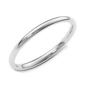 Metal Factory Sterling Silver 2MM High Polish Plain Dome Tarnish Resistant Comfort Fit Wedding Band Ring