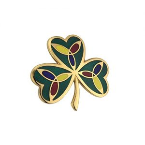 Tara Shamrock Brooch Gold Plated Irish Made