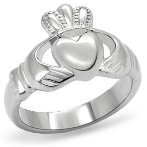 Women's Stainless Steel Irish Claddagh Ring