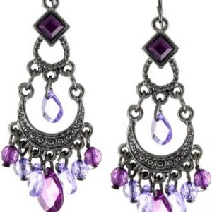 1928 Jewelry Crescent Chandelier Earrings, 2.12″