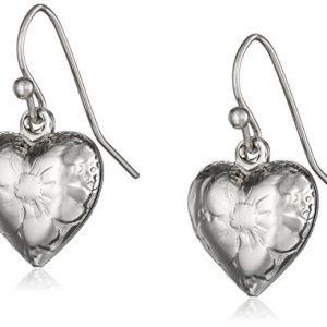 1928 Jewelry Heart Charm Earrings